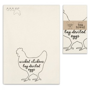 Wicked Chickens Tea Towel