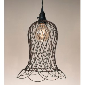 Wire Bell Pendant Light