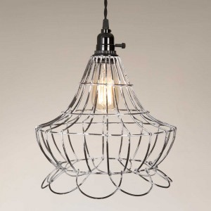 Wire Scallop Bell Pendant Light