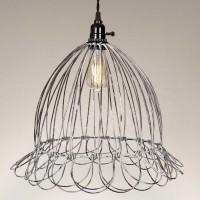 Wire Scallop Dome Pendant Light