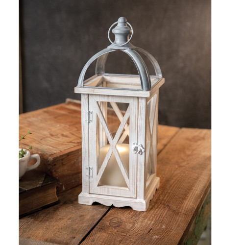 Wood and Metal Tall Lantern