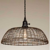 Woven Wire Pendant Light